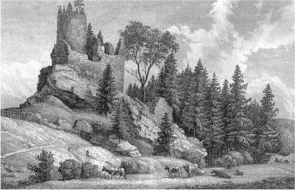 schlossruine-lauterstein-historisch